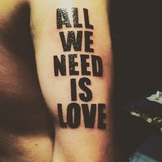 ALL WE NEED IS LOVE ❤️