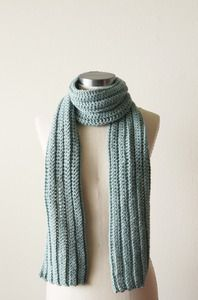 2 in 1 rib pattern for scarf. Instead of K1 P1, try K2 P1 or K3 P1