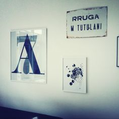 A7 poster by Playtype.com, Artwork by Gitte Röhl and old road sign from  Albania.