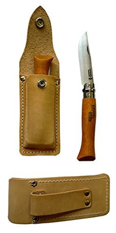 Opinel No. 7 (US made) Leather Sheath with Belt Loop >>> Click on the image for additional details.