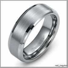 Mens Wedding Band Tungsten Carbide Ring 8 - 12