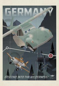 "7 Cool Vintage Travel Posters For Disney's ""Planes"" Planes Movie, Planes Party, Disney Pixar Cars, Disney Toys, Disney Fun, Planes Birthday, 3rd Birthday, Walt Disney, Birthday Parties"