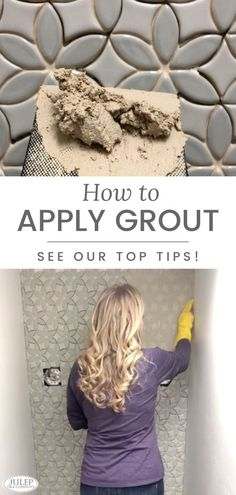 It's time to share our tips How To Apply Grout, Small House Decorating, Decorating Tips, Interior Design Guide, Simple Furniture, Good Tutorials, Handmade Tiles, Tile Installation