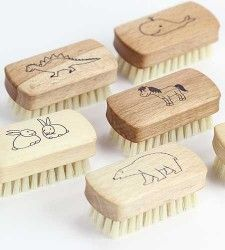 Child's nail brushes. We all know how much gunk gets under their nails!