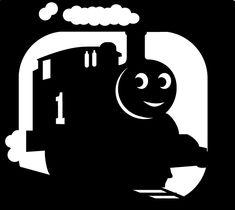 Thomas train pumpkin stencil :) For my lil bear.
