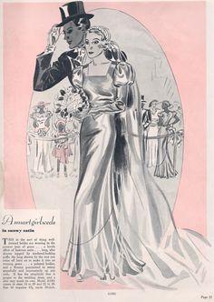 Comfort Pattern Department Mail Order A1901; 1930s; Wedding Dress