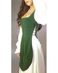 German Gown inset (This goes UNDER a low/open front overdress to add a light weight layer) Costume Renaissance, Medieval Costume, Renaissance Clothing, Medieval Dress, Medieval Fashion, Historical Clothing, Medieval Outfits, Historical Quotes, Renaissance Fair