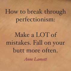 Perfectionism...