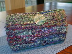 Ravelry: Tapestrytime's Tapestry, Box Loom Weaving, Clutch purse to match Shrug