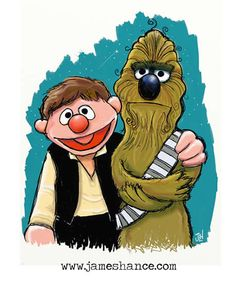 Star Wars and Muppets: You know these two would be Han and Chewie.