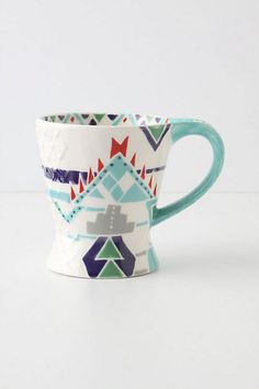 @bri weadock we could totally make these. buuut they are on sale. new house mugs?    Questa Mug - Anthropologie.com