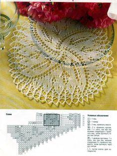 Diana Креатив. Ажурное вязание спицами, салфетки 6/2002