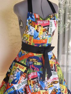 Star Trek Full of Flounce Sweetheart Apron With by AquamarCouture,