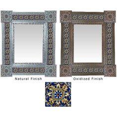 Colección de espejos de azulejos de Talavera - Espejo de azulejos de Talavera - TMIR302