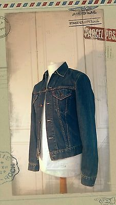 Noel Gallagher Levi's Denim Trucker Jacket - Indie/Hipster ⊙ Skinny Fit ⊙Size S