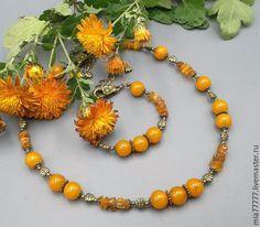 Handmade Yellow Amber Beads Necklace