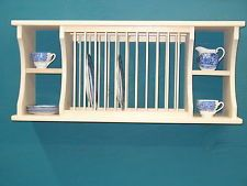 *NEW* split shelf cabinet wall counter WOOD PLATE dish RACK mugs glasses spice