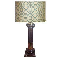 Brass Egytptian Lotus Column Table Lamp - $325 Est. Retail - $275 on Chairish.com