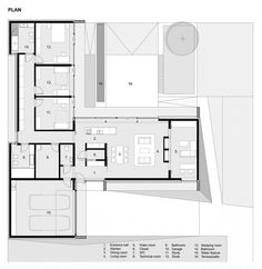 Single level floor plan