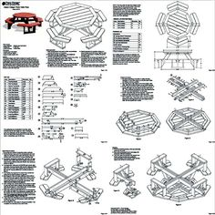 Classic Octagon Picnic Table Woodworking Plans #odf08