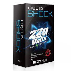 Liquid Shock 220 Volts - 8g; gel eletrizante; geli excitante; liquid shock adão e eva