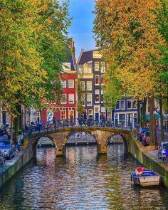 Had to share this stunning shot of Amsterdam, Netherlands. Europa Tour, Holland Netherlands, Amsterdam Travel, Beautiful Places To Travel, The Great Outdoors, Wonders Of The World, Places To See, Scenery, Around The Worlds