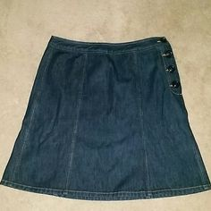 Denim Skirt Great Denim skirt with side buttons. In excellent condition The Limited Skirts