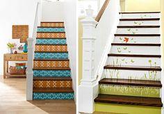 Escaleras decoradas, encuentra más ideas para decorar tus escaleras aquí http://www.1001consejos.com/ideas-para-decorar-escaleras/