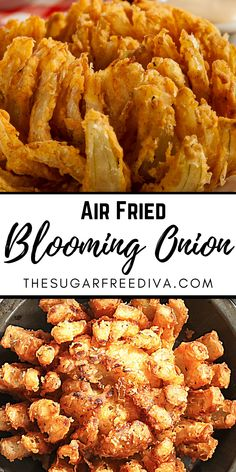 Air Fryer Oven Recipes, Air Frier Recipes, Air Fryer Dinner Recipes, Veggie Recipes, Appetizer Recipes, Healthy Recipes, Air Fried Vegetable Recipes, Appetizers, Blooming Onion Recipes