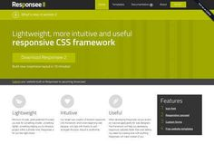 My Responsee Lightweight, more intuitive and useful responsive CSS framework.