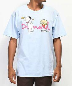 bddcafc8bde53 Diamond Supply Co. x Family Guy OG Script Blue T-Shirt