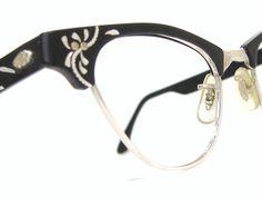 Vintage Aluminum Cateye Glasses Frames by Vintage50sEyewear, $98.00
