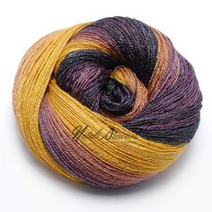 "Gradient BFL / Silk Yarn ""Autumn Maple"""