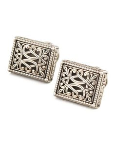 Sterling Silver Filigree Cuff Links by Konstantino at Neiman Marcus.