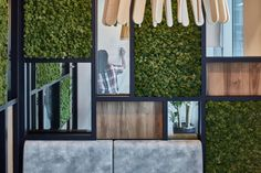 Bringing nature inside to create a soothing aura with green surroundings, for a inspiring, supportive workplace that exudes the company's team ethos to create a sense of belonging for staff Green Walls, Workplace, Singapore, Bring It On, Curtains, Create, Nature, Home Decor, Blinds