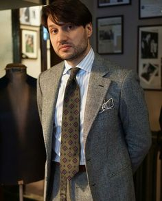 Prince of wales suit by Zaremba bespoke