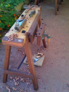7 Great Cool Tricks: Woodworking Tools Must Have fine woodworking tools hands.Old Woodworking Tools Table Saw best woodworking tools diy projects.All Woodworking Tools. Woodworking Bench Plans, Woodworking For Kids, Workbench Plans, Woodworking Workshop, Woodworking Shop, Woodworking Crafts, Garage Workbench, Workbench Designs, Unique Woodworking