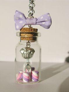 Fimo   clay  handmade  cernit in jar