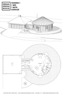 Building A Small House, Building A Container Home, Hut House, Dome House, House Layout Plans, House Layouts, Wooden Yurts, Round House Plans, Yurt Home