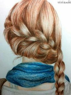 Drawing of a braid #so #good