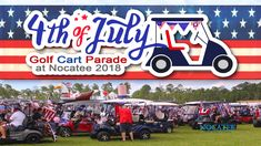 Over 150 golf carts lined up on the morning of July to entertain fellow residents, throw beads, have fun and celebrate the independence of our great country. Local Events, Community Events, Golf Carts, Upcoming Events, Independence Day, Fourth Of July, Summer Time, Have Fun, Monster Trucks