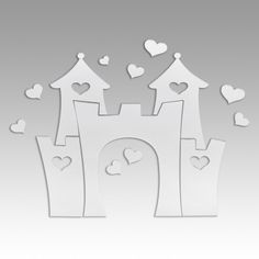 Love Heart Castle - Mirrored Wall Decal