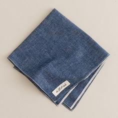 The Hill-side® selvedge pocket square $44