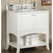 Fairmont Designs  Shaker Open Shelf 185-VH24 24 Inch Vanity - Open Shelf In Polar White $637.50 (top and sink not included)