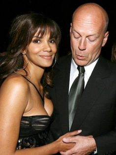 Bruce Willis checking out Halle Berry