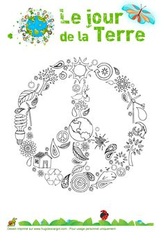 Coloriage - Le jour de la Terre French Teaching Resources, Teaching Themes, Teaching Colors, Teaching French, Teaching Art, Earth Day Crafts, Earth Day Activities, Shrink Art, French Classroom
