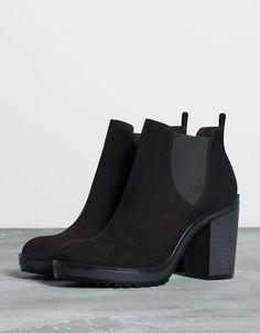 Bershka Ukraine - elastic heeled ankle boot