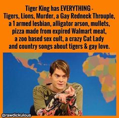 Ready to laugh at the best Tiger King Memes? As I compiled this list of tiger king memes, I was literally laughing out loud most of the time. Colin Hanks, Crazy Cat Lady, Crazy Cats, Big Cats, Boxe Fight, King Meme, Funny Tiger, Funny Jokes, Hilarious