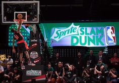 HOUSTON, TX - FEBRUARY 16: Terrence Ross of the Toronto Raptors goes up for a dunk in the first round during the Sprite Slam Dunk Contest part of 2013 NBA All-Star Weekend at the Toyota Center on February 16, 2013 in Houston, Texas.