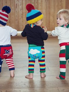 Crab and The Fox is a funky, cool baby clothes and modern nursery retailer. We cherish good design and are inspired by the cool, the quirky and the creative. Funky Baby Clothes, Blade And Rose, Coloured Leggings, Colorful Clouds, Fall Winter, Autumn, Baby Leggings, Rainbow Baby, Yellow Stripes